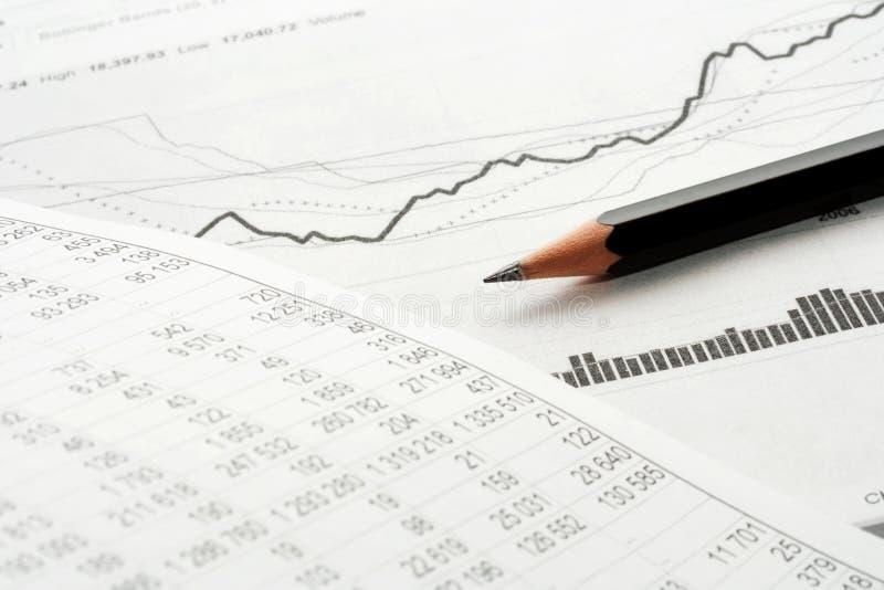 finansiell analys royaltyfri bild