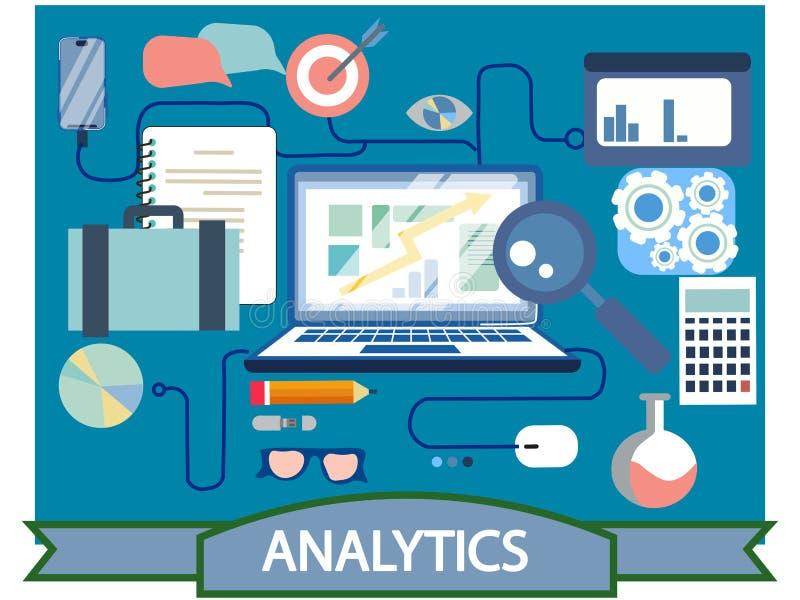 Finansiell analys för online-nätverk för affär socialt och plan design för forskning, infographicsbeståndsdelar, vektor vektor illustrationer