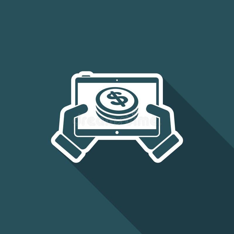 Finansiell applikation på minnestavlan - dollar stock illustrationer