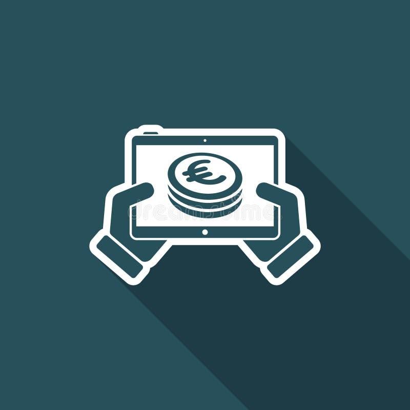 Finansiell applikation på minnestavlan - euro royaltyfri illustrationer