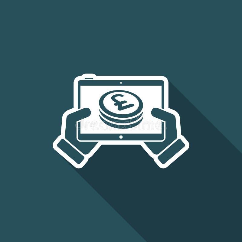 Finansiell applikation på minnestavlan - Sterling vektor illustrationer