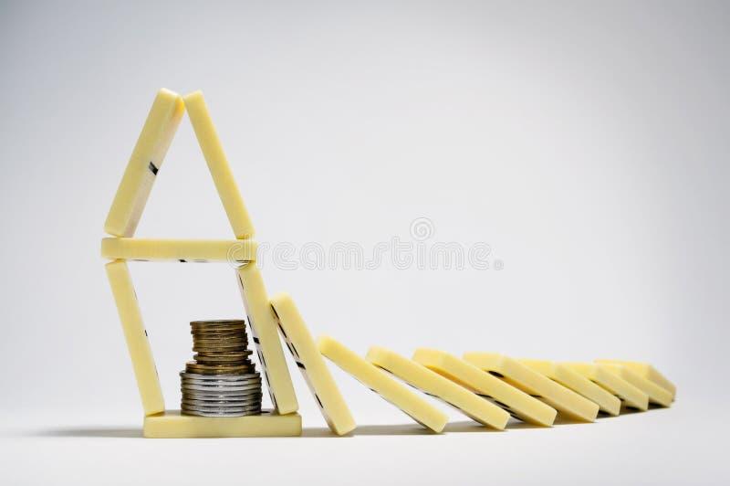 finansiell begreppskris fotografering för bildbyråer