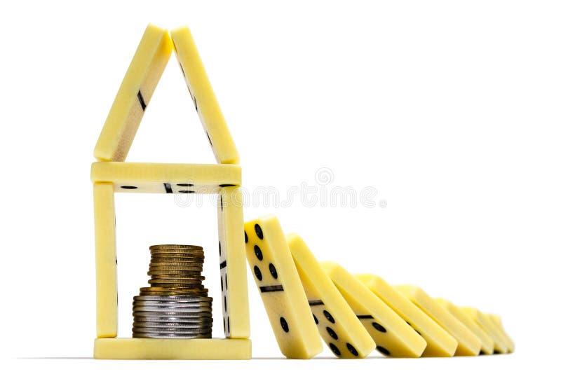 finansiell begreppskris arkivfoton