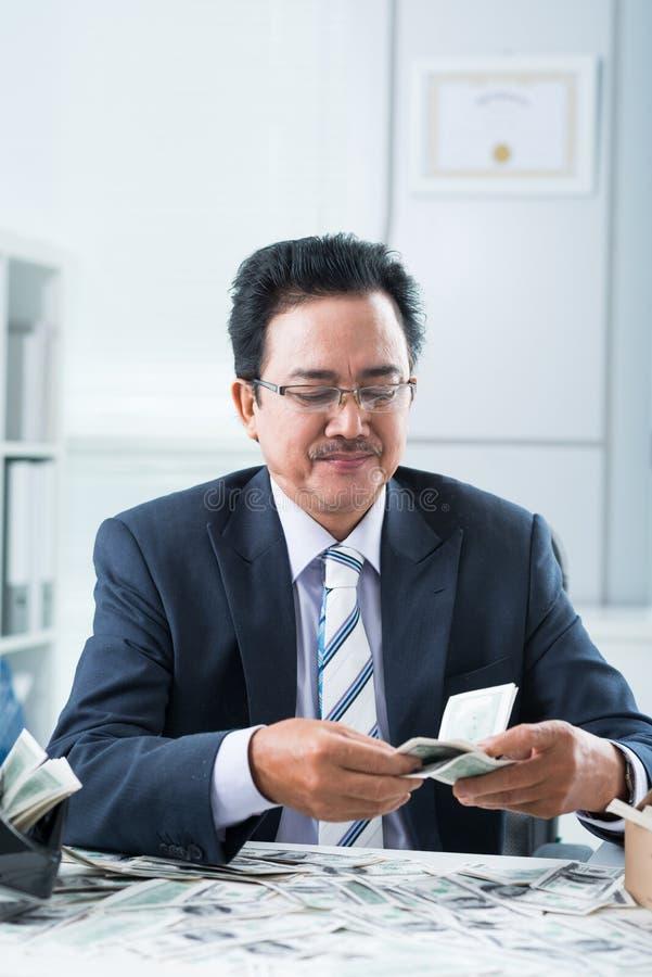 Finansiell chef arkivbild