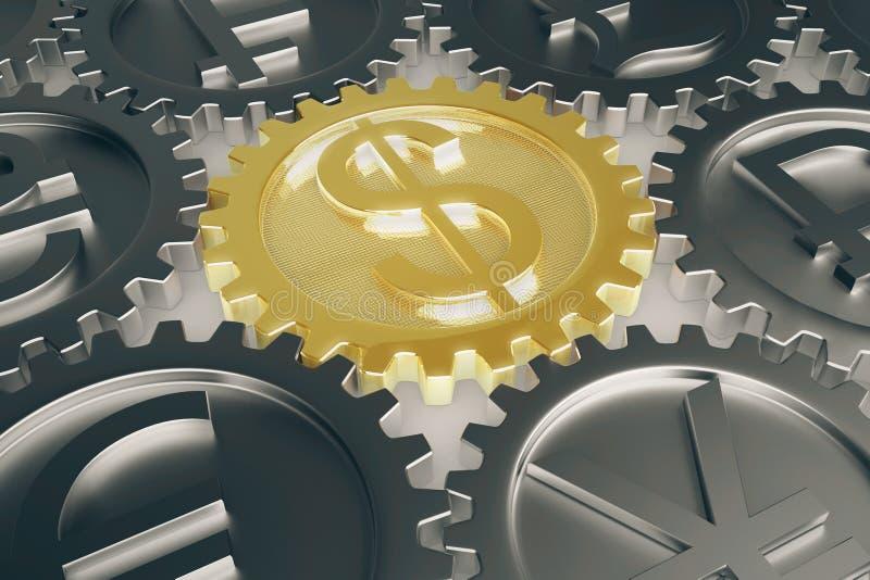 Finansiell closeup för systembegrepp vektor illustrationer