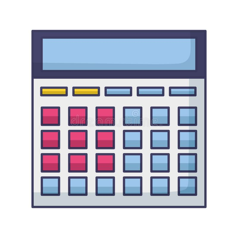 Finansiell ekonomi f?r r?knemaskin vektor illustrationer