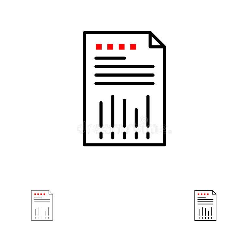Finansiell, för graf, för papper, för rapport satt en klocka på och tunn svart linje symbolsuppsättning för räkneark, för affär,  vektor illustrationer