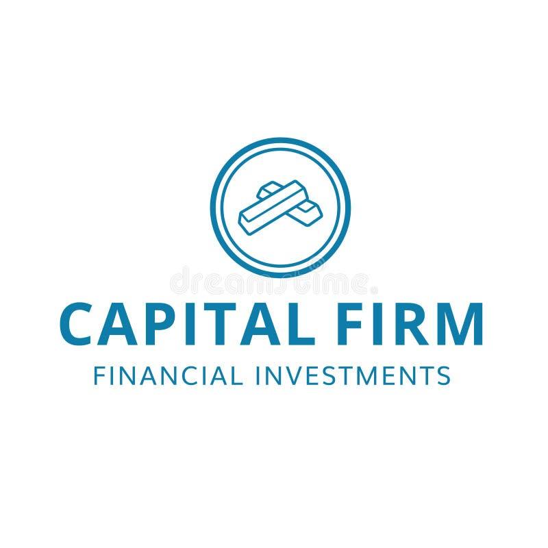 Finansiell fast investeringlogo för huvudfinans royaltyfri bild
