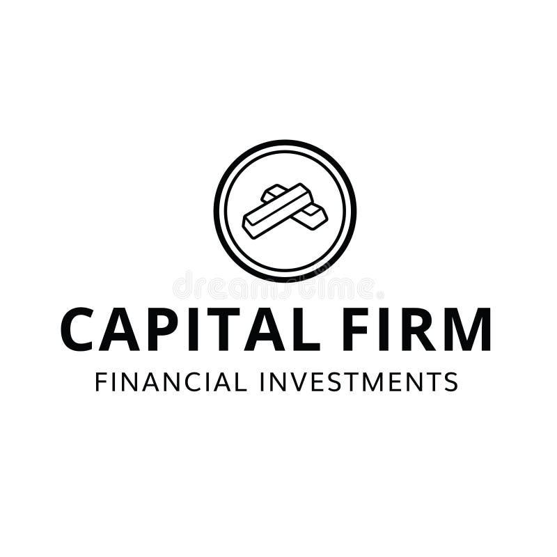 Finansiell fast investeringlogo för huvudfinans fotografering för bildbyråer