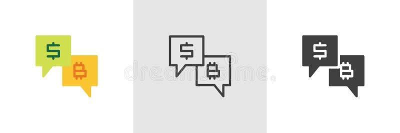 Finansiell forummeddelandesymbol vektor illustrationer