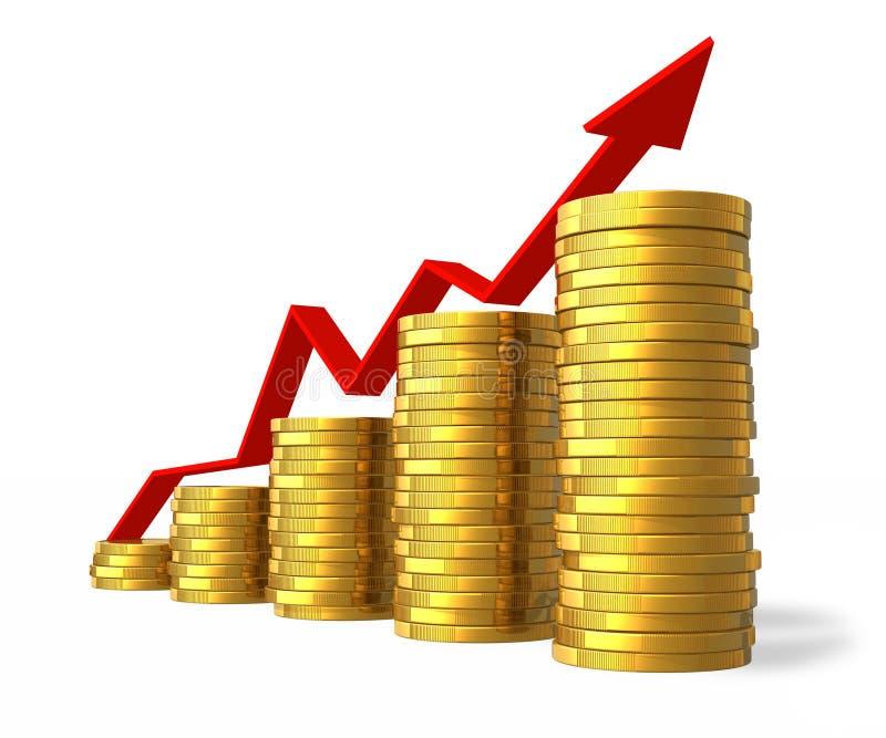 finansiell framgång för begrepp royaltyfri illustrationer