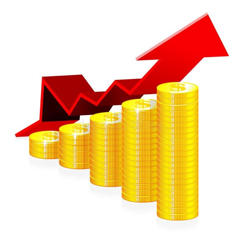 finansiell framgång för begrepp vektor illustrationer