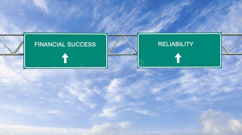 Finansiell framgång och pålitlighet arkivbilder