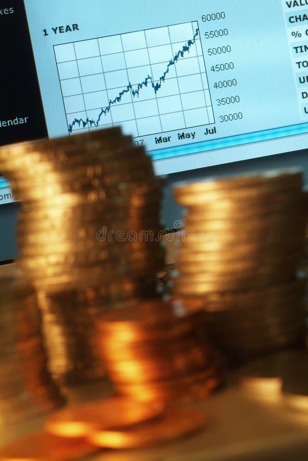 finansiell framtidsutsikt arkivfoto