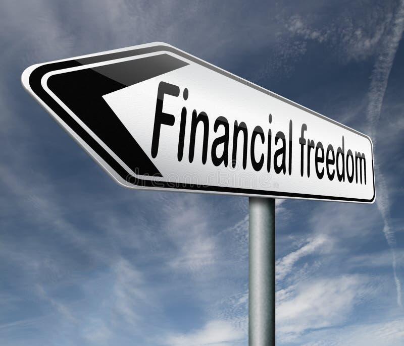 Finansiell frihet och självständighet vektor illustrationer