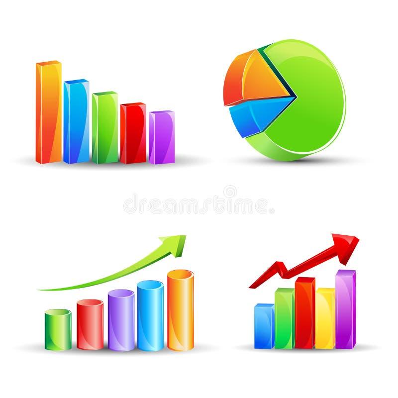 finansiell graf vektor illustrationer