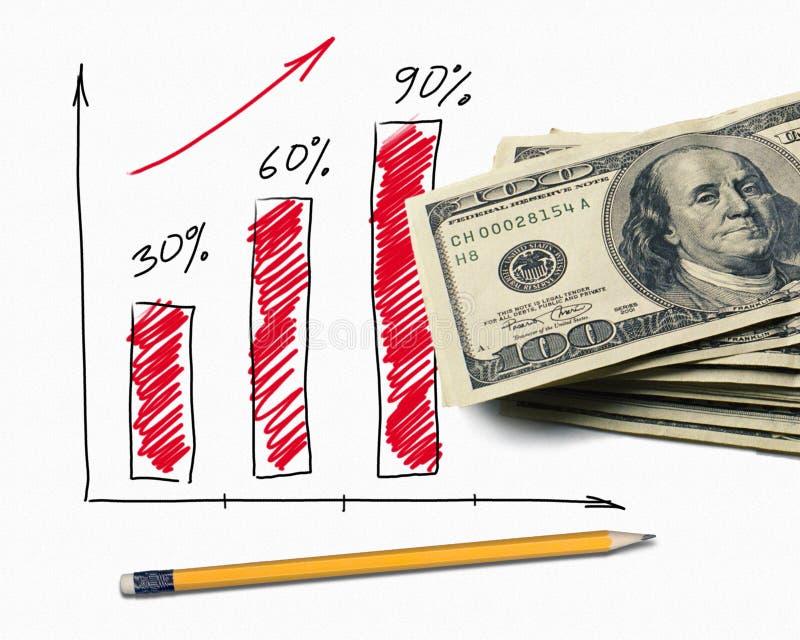 finansiell graf royaltyfria bilder