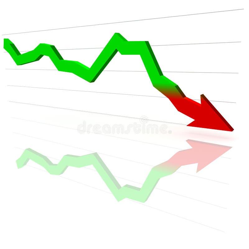 finansiell graf 3d stock illustrationer