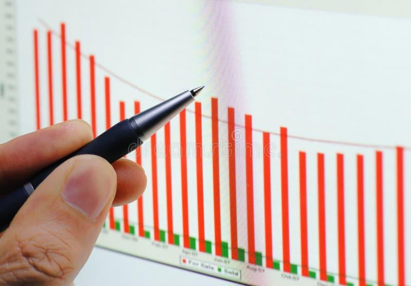 finansiell graf royaltyfri fotografi