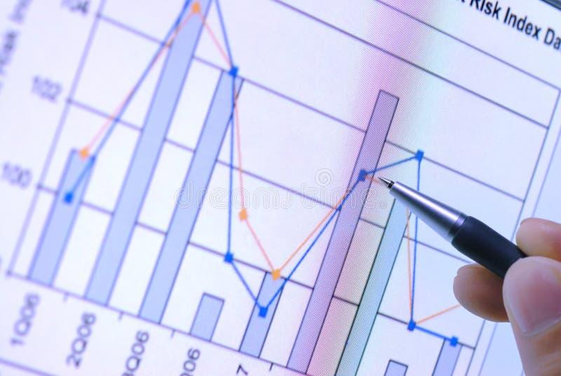 finansiell graf royaltyfri foto
