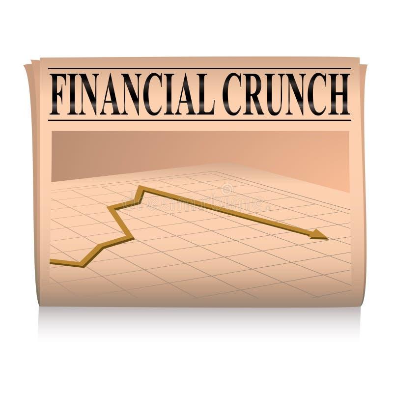 finansiell graftidningspink vektor illustrationer