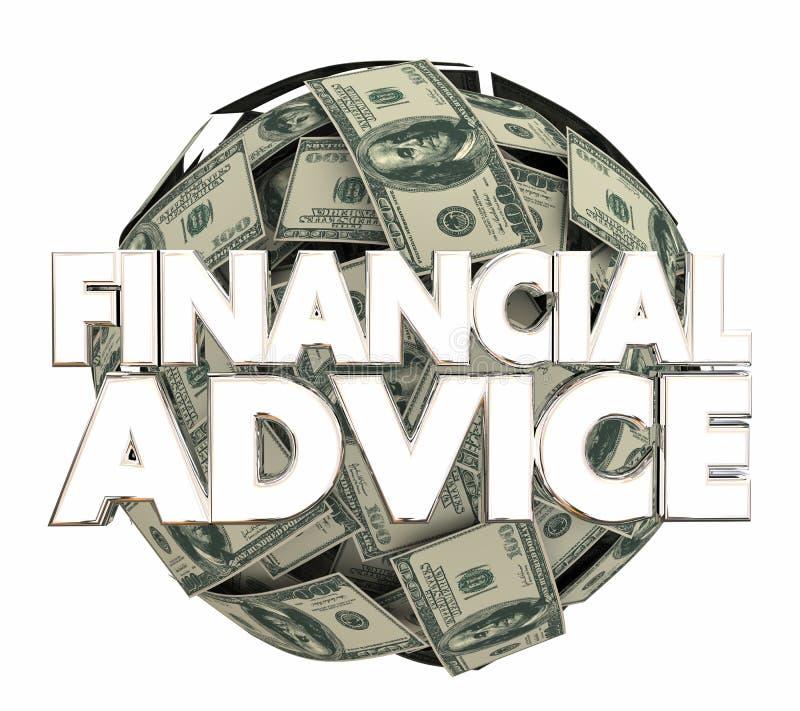Finansiell konsulent för investering för rådgivningpengarservice 3d Illustratio stock illustrationer