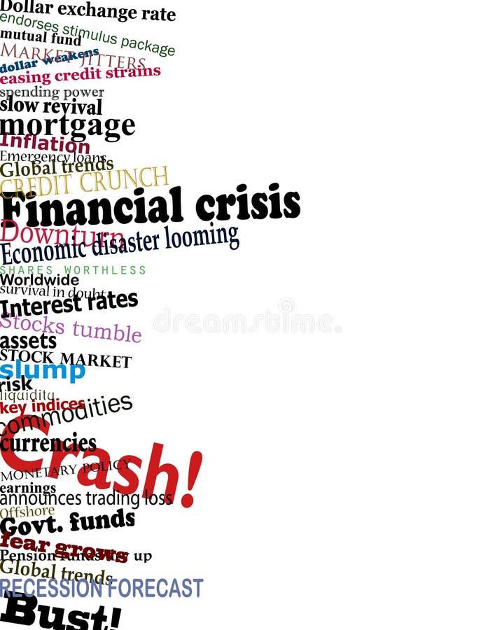 finansiell kris vektor illustrationer