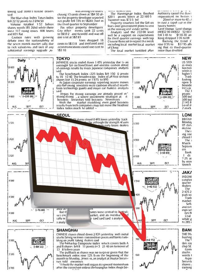 finansiell kris stock illustrationer