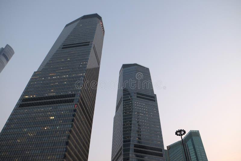 Finansiell mitt för Shanghai värld arkivfoton