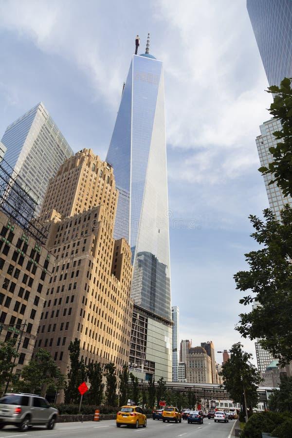 Finansiell mitt för värld, New York, ledare arkivbilder