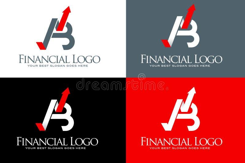 Finansiell pillogo vektor illustrationer