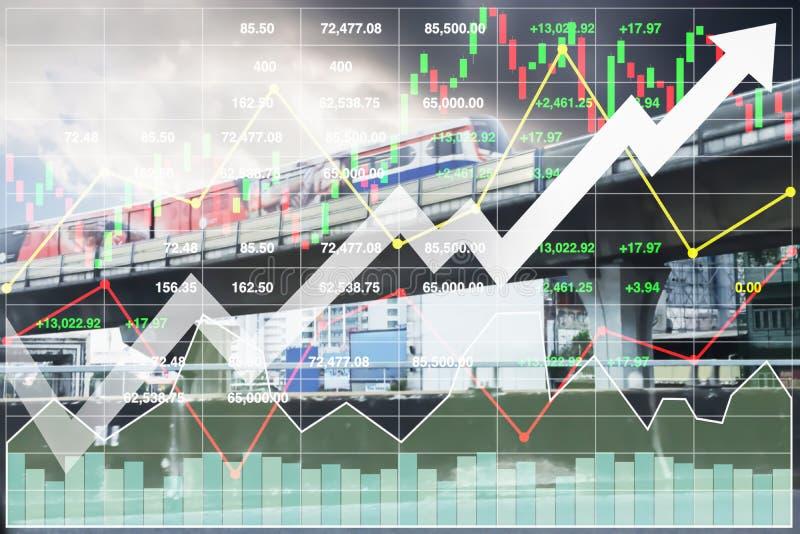 Finansiell presentation för materielindex av trans.investeringen royaltyfria foton