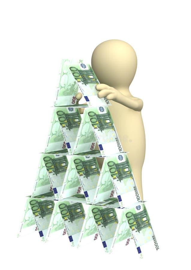 finansiell pyramid stock illustrationer