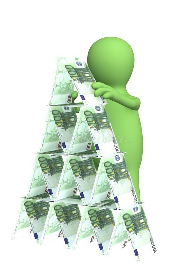finansiell pyramid vektor illustrationer