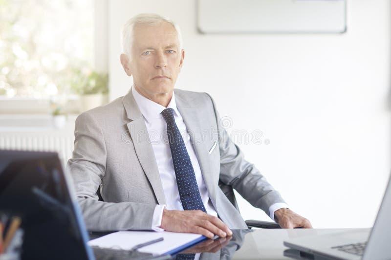 Finansiell rådgivareaffärsman som arbetar i kontoret royaltyfria foton