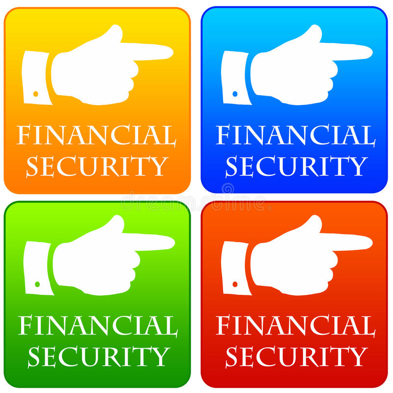 Finansiell säkerhet royaltyfri illustrationer