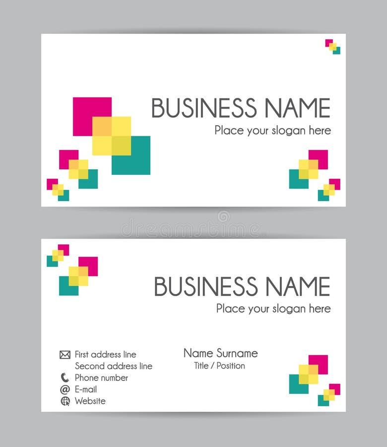 finansiell serie för affärskort Plan design Uppsättning II vektor illustrationer