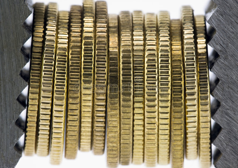 finansiell squeeze royaltyfria foton