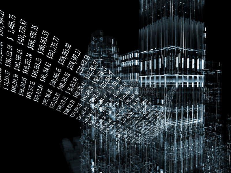 finansiell stad vektor illustrationer