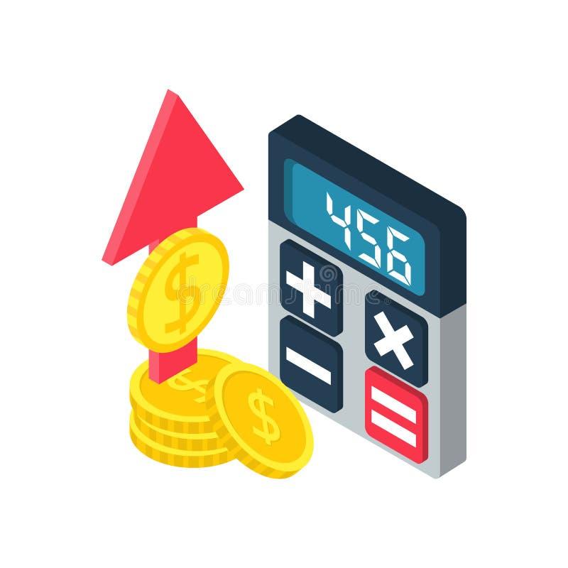 Finansiell statistikrapport royaltyfri illustrationer