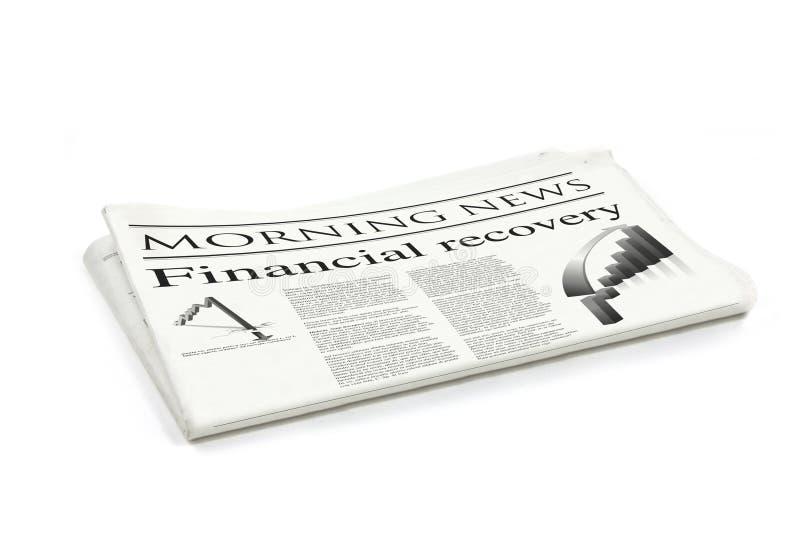 finansiell tidningsåterställning fotografering för bildbyråer