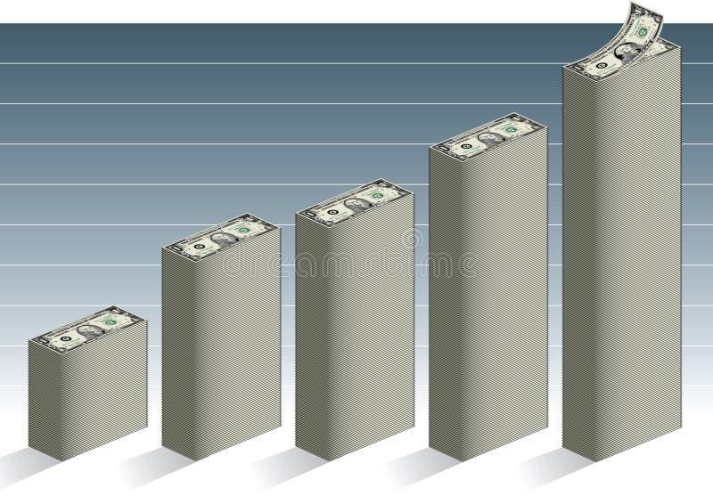finansiell tillväxt royaltyfri illustrationer