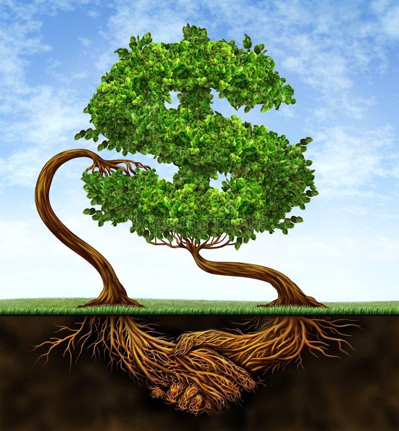 finansiell tillväxt för överenskommelse royaltyfri illustrationer