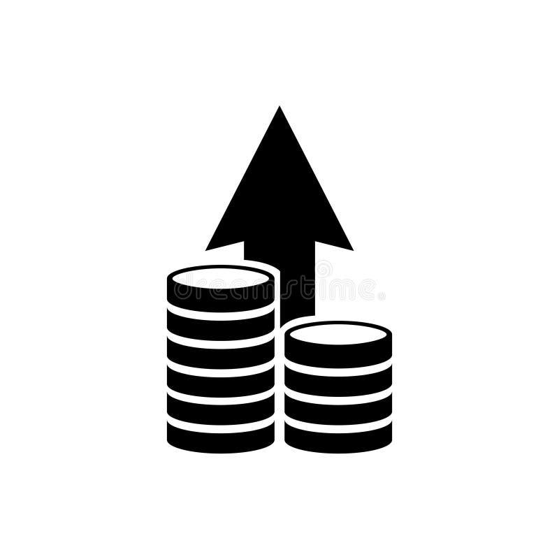 Finansiell tillväxt, symbol för vektor för plan för investeringstrategi plan stock illustrationer