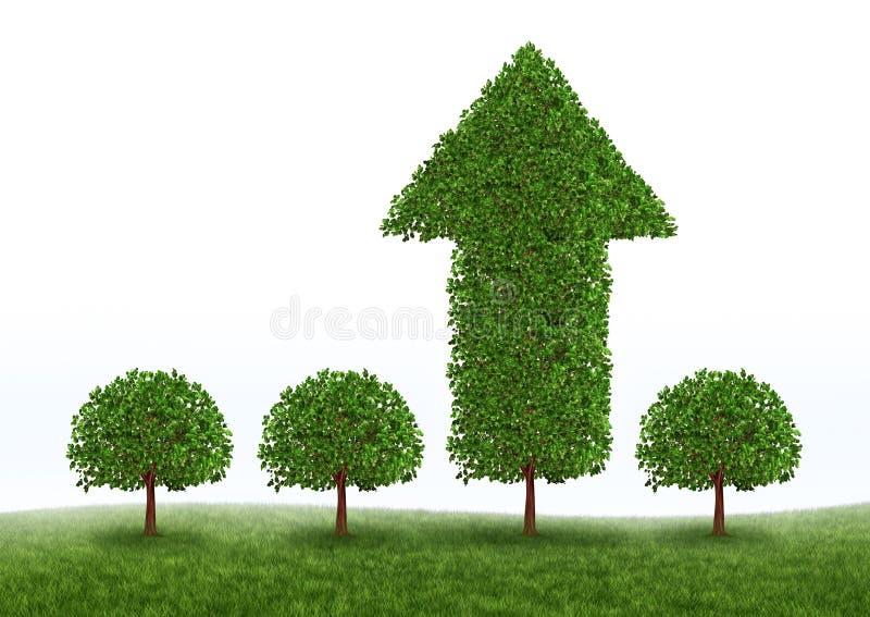 finansiell tillväxtframgång stock illustrationer