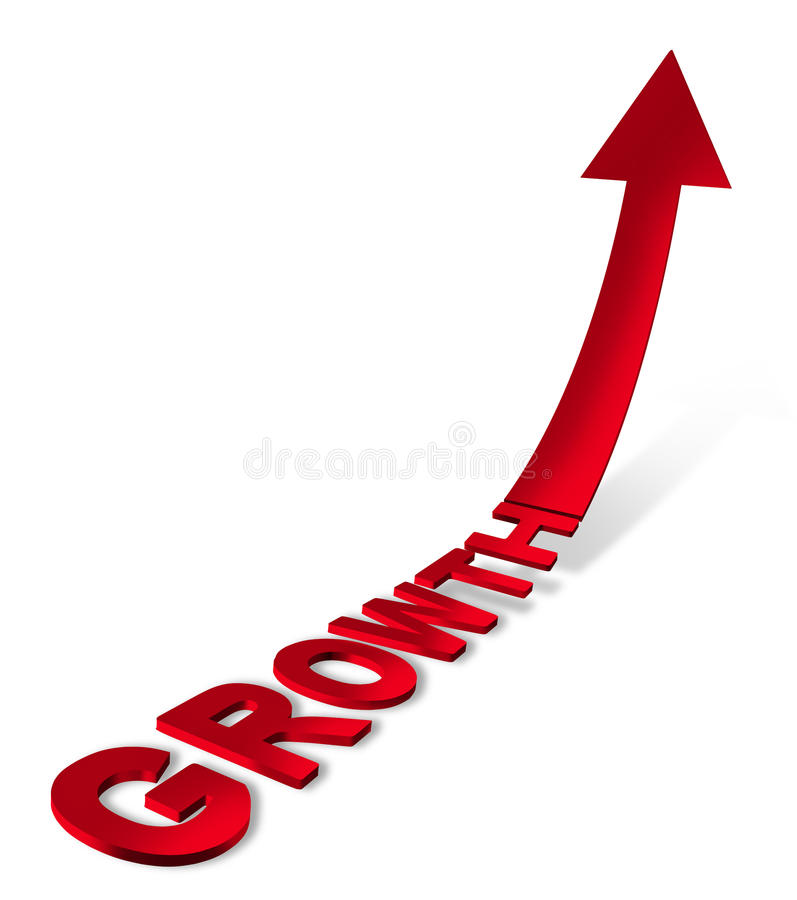 finansiell tillväxtframgång vektor illustrationer