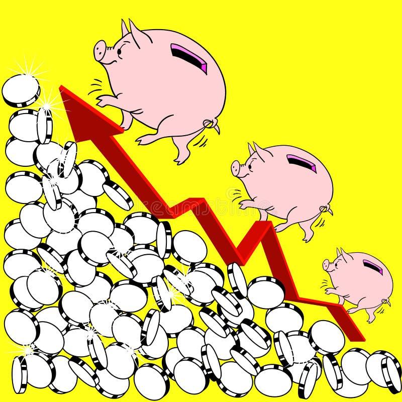 finansiell tillväxtillustration för begrepp royaltyfri illustrationer