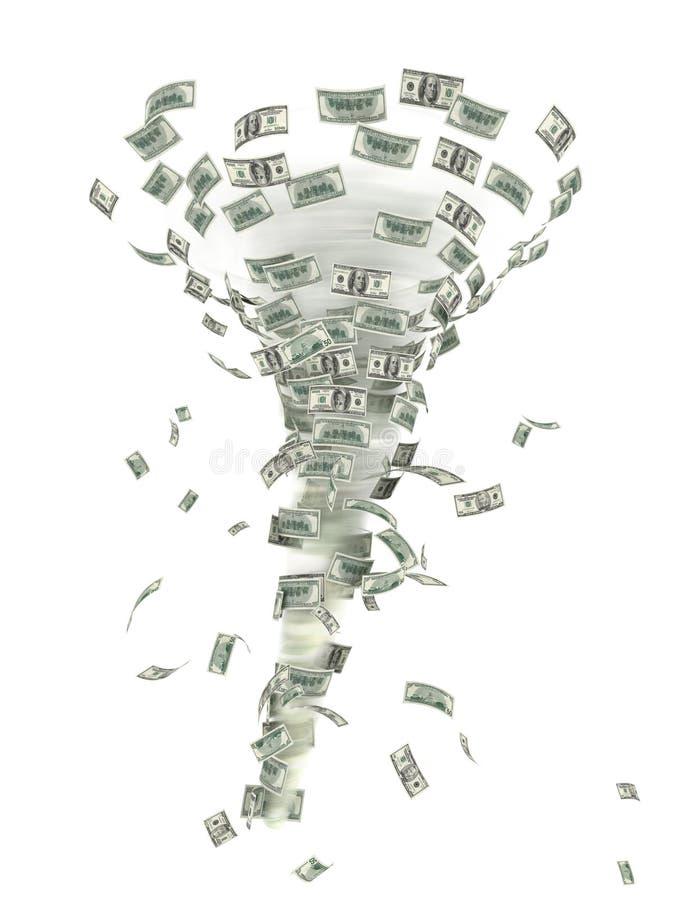 finansiell tromb royaltyfri illustrationer