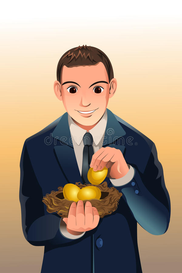 finansiella besparingar för affär stock illustrationer