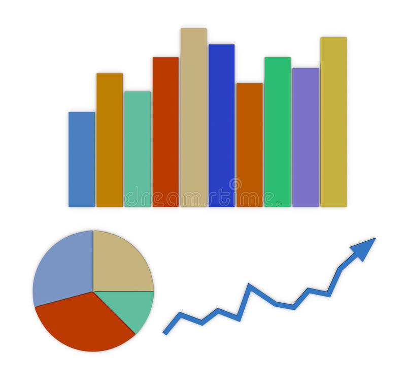 Finansiella diagram vektor illustrationer